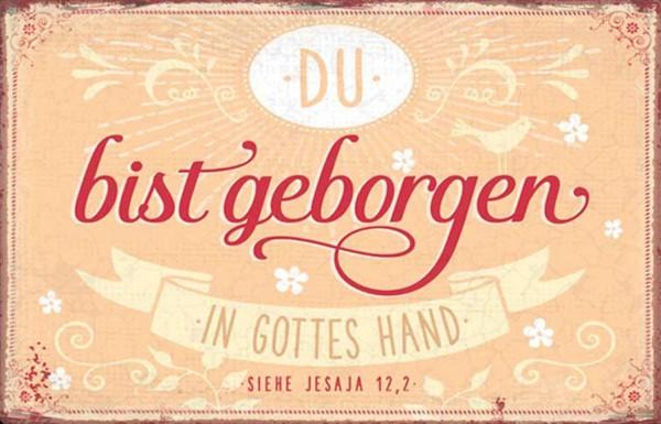 Metallschild ''In Gottes Hand''