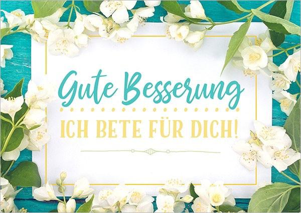 """Postkarte """"Gute Besserung (Blüten)"""""""