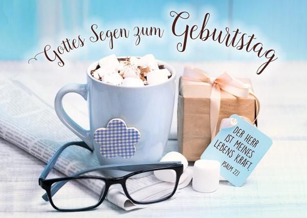 "Postkarte ""Gottes Segen zum Geburtstag - Marshmallows"""