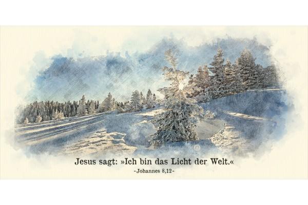 Faltkarte Art 01 Schneelandschaft