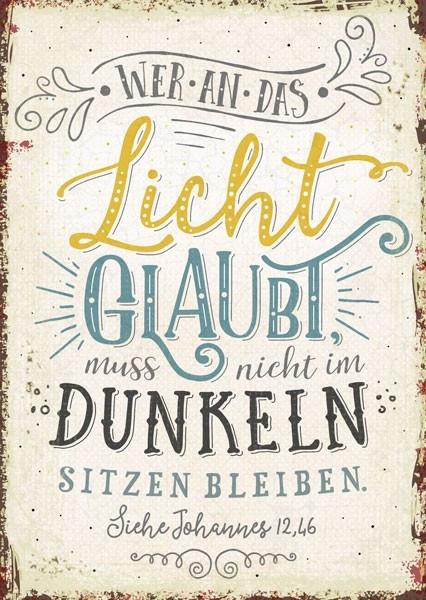 "Postkarte ""Das Licht"""
