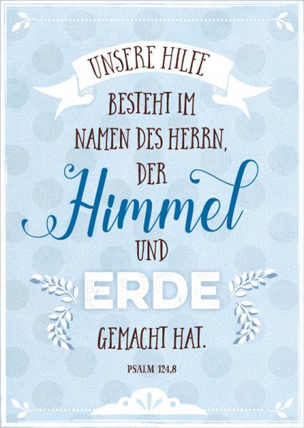 """Postkarte """"Himmel und Erde"""""""