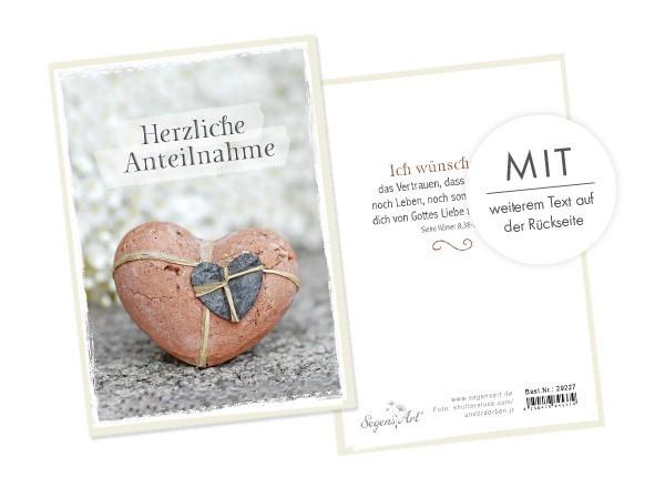 """Faltkarte """"Herzliche Anteilnahme - Gottes Liebe"""""""
