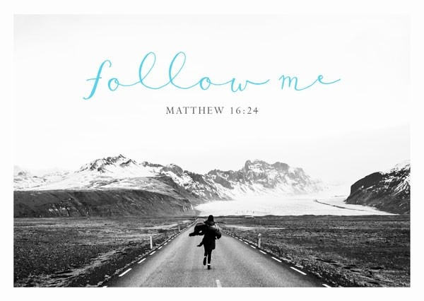 """Postkarte """"Black & White - Follow me"""""""