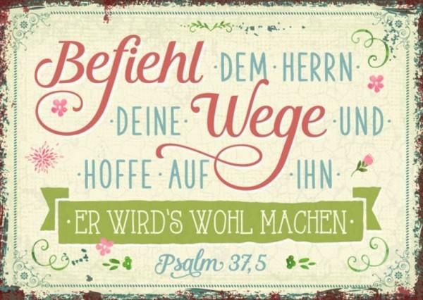 """Postkarte """"Befiehl dem Herrn deine Wege"""""""