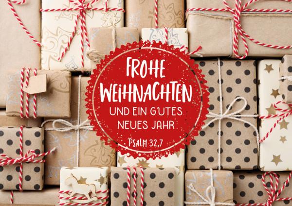 """Faltkarte: """"Weihnachtspäckchen"""""""