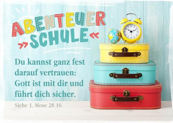 "Postkarte ""Abenteuer Schule"""