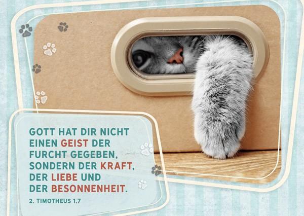 """Postkarte """"Liebe und Besonnenheit"""""""