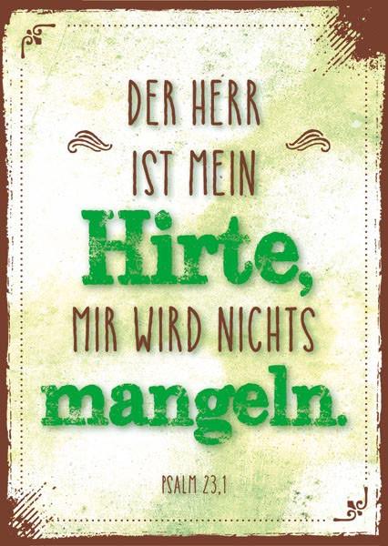 """Postkarte """"Der Herr ist mein Hirte"""""""
