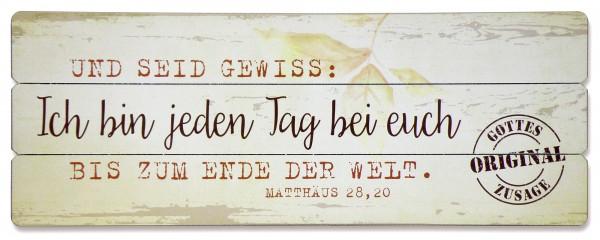 Holz-Wandbild ''Ich bin bei euch''