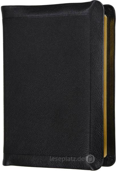 Elberfelder 2003 - Standardausgabe mit Notizseiten / Leder schwarz / Goldschnitt