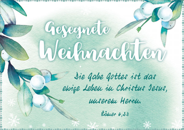 "Postkarte ""Die Gabe Gottes"""