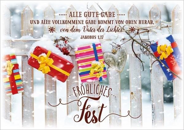 """Postkarte """"Alle guten Gaben"""""""