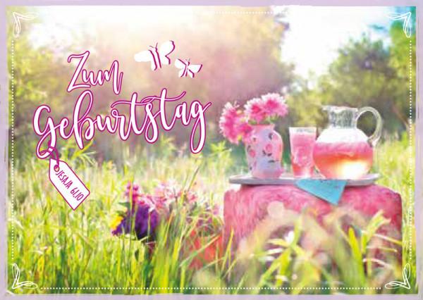 """Postkarte """"Jesaja 61,10 - Geburtstag"""""""