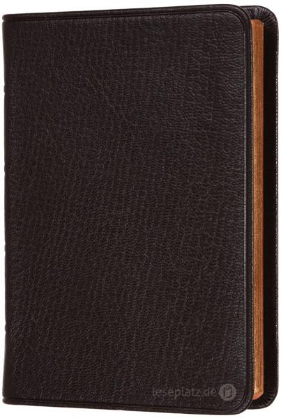 Elberfelder 2003 - Pocketausgabe / Ziegenleder dunkelbraun / Rotgoldschnitt