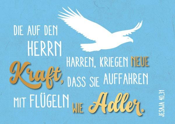 """Postkarte """"Die auf den Herrn harren"""""""