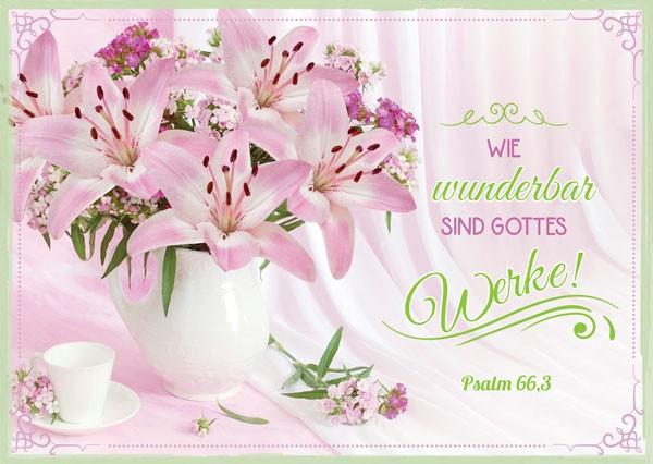 "Postkarte ""Wie wunderbar sind"""