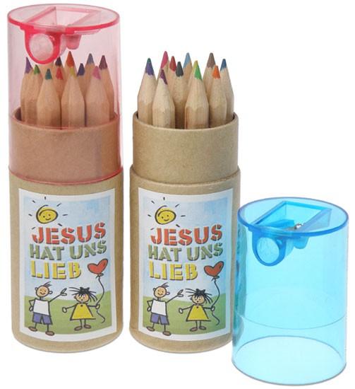 """Mini-Stiftebox """"Jesus hat uns lieb''"""