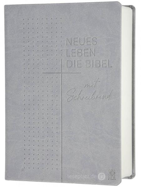 """Neues Leben. Die Bibel - Schreibrandausgabe """"Kunstleder grau"""""""