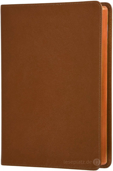 Elberfelder 2003 - Standardausgabe hellbraun / Leder / Rotgoldschnitt