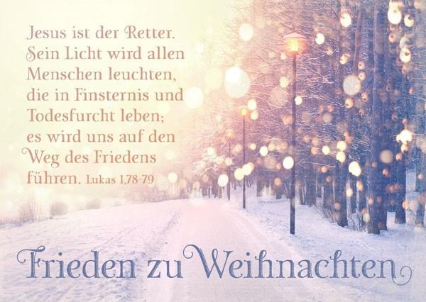 Postkarte - Frieden zu Weihnachten