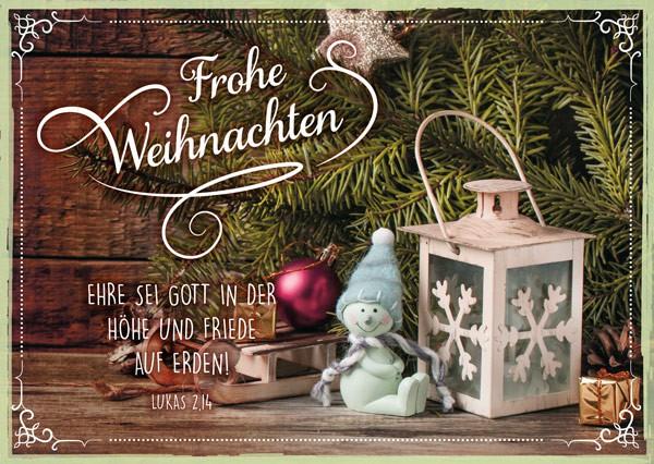 """Postkarte """"Unterm Weihnachtsbaum"""""""
