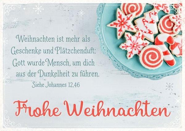 Postkarte - Frohe Weihnachten (Plätzchen)