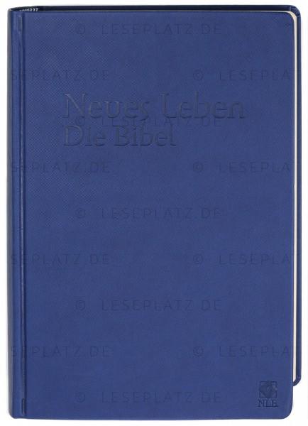 Neues Leben. Die Bibel - Schreibrandausgabe ital. Kunstleder blau