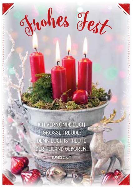 """Postkarte """"Vier Kerzen"""""""