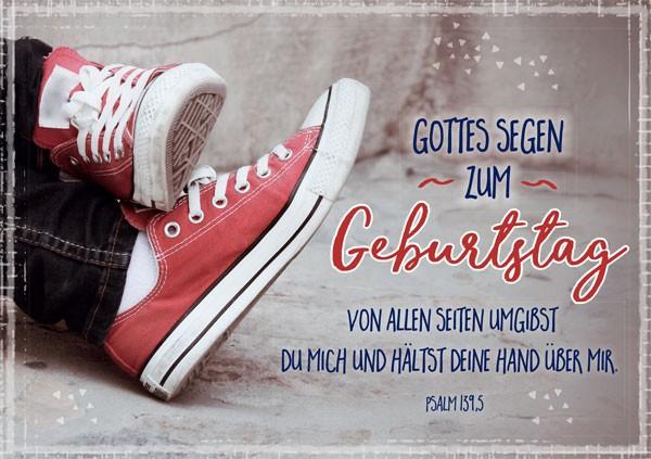 """Faltkarte """"Rote Sneakers"""" - Geburtstag"""