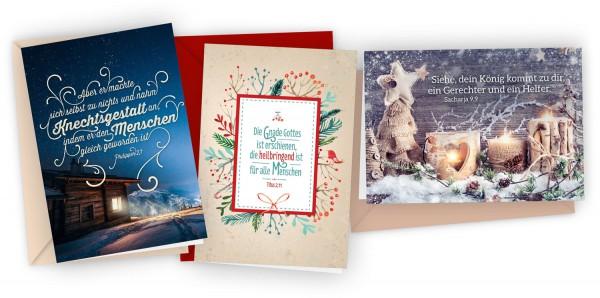"""3er-Set Faltkarten """"Weihnachten"""""""