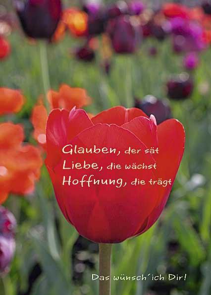 """Postkarte """"Glaube, Liebe, Hoffnung"""""""