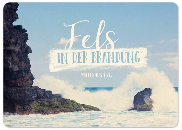 "Postkarte ""Big Blessing - Fels in der Brandung"""