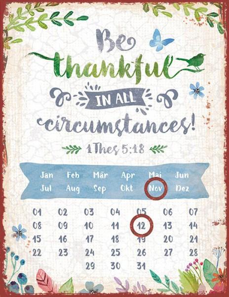 "Magnetkalender ""be thankful"""