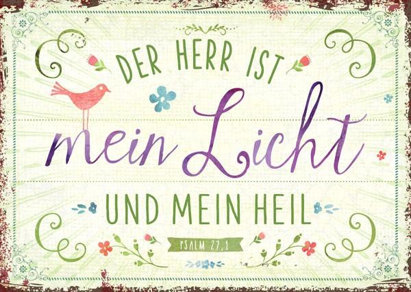 """Postkarte """"mein Licht und Heil"""""""