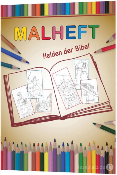 """Malheft """"Helden der Bibel"""""""