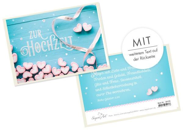 """Faltkarte """"Zur Hochzeit - Frieden und Geduld"""""""