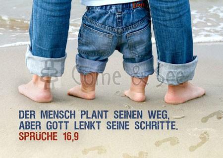 Postkarte - Der Mensch plant