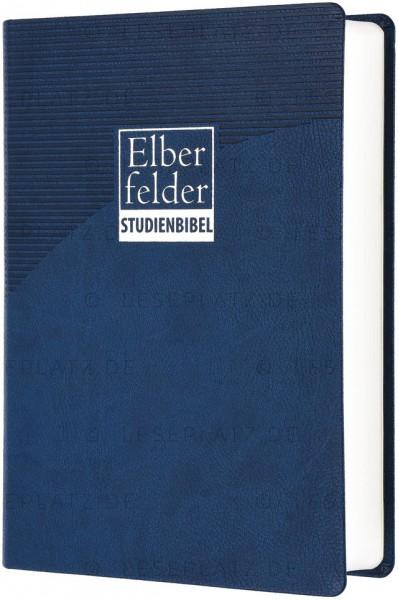 Elberfelder Studienbibel - Kunstleder blau