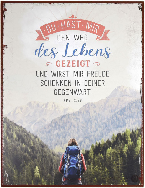 "Metallschild ""Weg des Lebens"""