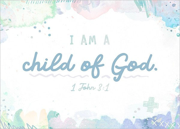 "Postkarte - Big Blessing ""I am a child of God"""