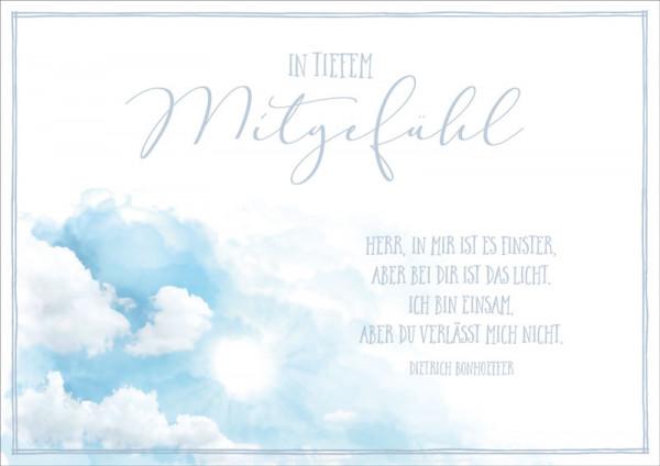 """Faltkarte """"Wolken"""" - Trauer"""