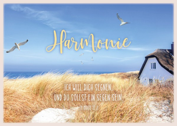 "Postkarte ""Harmonie/Dünen"""