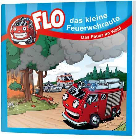 """Flo, das kleine Feuerwehrauto - Mini-Buch """"Das Feuer im Wald"""""""
