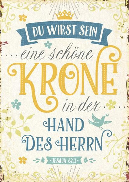 """Postkarte """"Eine schöne Krone"""""""