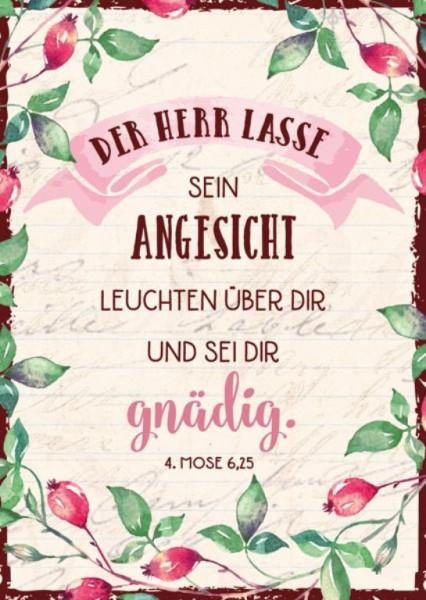 """Postkarte """"Der Herr lasse sein Angesicht"""""""