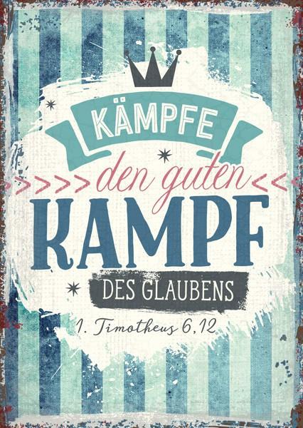 """Postkarte """"Kampf des Glaubens"""""""