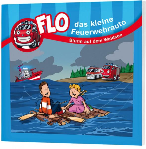 """Flo, das kleine Feuerwehrauto - Mini-Buch """"Sturm auf dem Waldsee"""""""