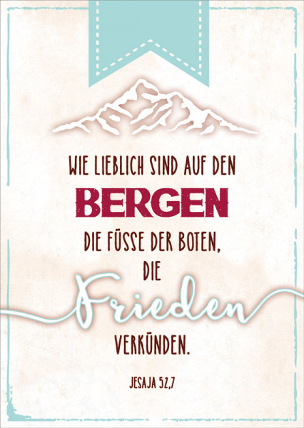 """Postkarte """"Berge"""""""