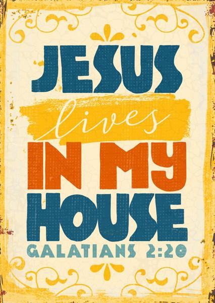 """Postkarte """"In my house"""""""